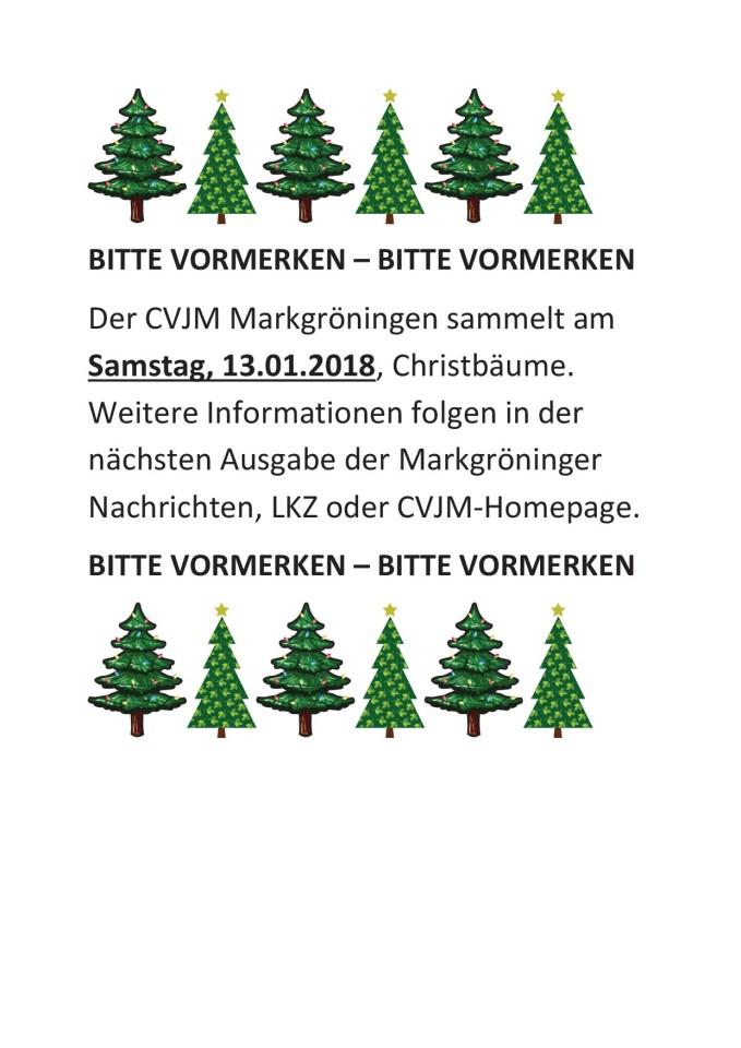 180113_Christbaumsammlung_Vorabinfo
